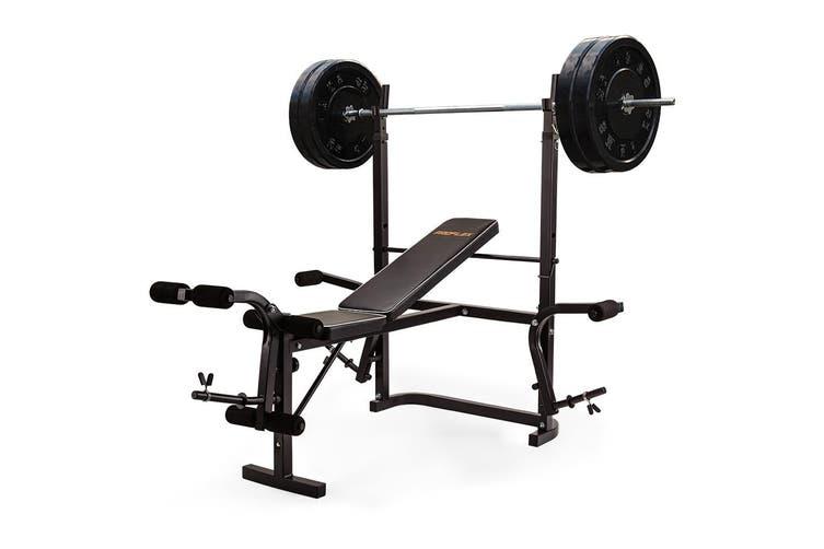 PROFLEX 7in1 Weight Bench Press Multi-Station Home Gym Leg Curl Equipment Set