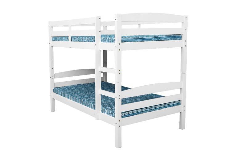 Kingston Slumber Single Bunk Bed Frame Wooden Kids Timber Loft Bedroom Furniture Matt Blatt