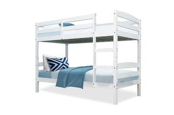 Kingston Slumber Single Bunk Bed Frame Wooden Kids Timber Loft Bedroom Furniture