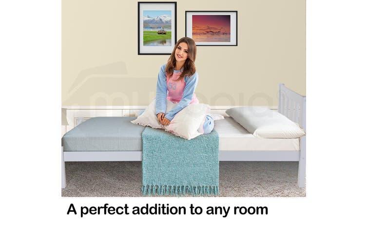 Kingston Slumber Single Wooden Pine Bed Frame Timber Kids Adults Contemporary Bedroom Furniture