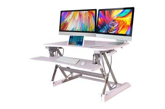 FORTIA Height Adjustable Desk Riser Sit/Stand Office Computer Desk