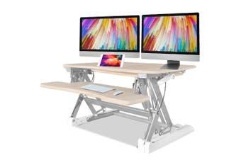 FORTIA Height Adjustable Standing Desk Riser Sit/Stand Office Computer Desktop