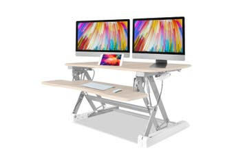 FORTIA Height Adjustable Standing Desk Riser Sit/Stand Office Computer Desktop