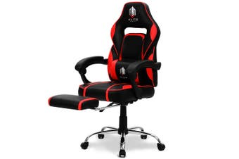 OVERDRIVE Gaming Chair Racing Computer PC Seat Office Reclining Footrest Red