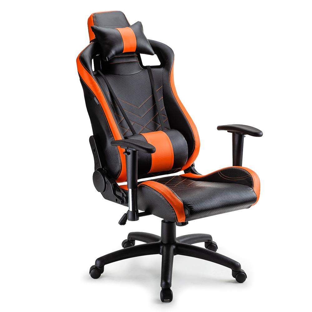 Picture of: Overdrive Gaming Chair Office Computer Racing Pu Leather Executive Black Orange Kogan Com