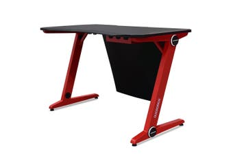 OVERDRIVE Gaming Desk 120cm PC Table Setup Computer Carbon Fiber Style Black Red