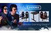 OVERDRIVE Gaming Desk 139cm PC Table Setup Computer Carbon Fiber Style Black