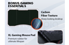 OVERDRIVE Gaming Desk 139cm PC Setup Table Computer Carbon Fiber Style Black