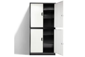 AVANTE Stationery Cabinet Office Metal Lockable Storage Cupboard 4 Door Locker