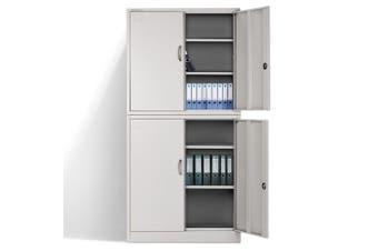 AVANTE Stationery Cabinet Office Metal Lockable Storage Cupboard Locker 4 Door
