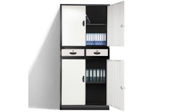 AVANTE Stationery Cabinet Office Metal Lockable Storage Cupboard 4 Door Drawers