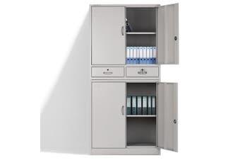 AVANTE Stationery Cabinet Office Metal Lockable Storage 4 Door Drawers Cupboard