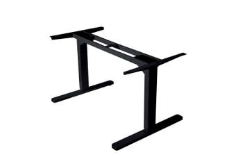 FORTIA Height Adjustable Standing Desk Sit Stand Electric Motorised Office Black Frame