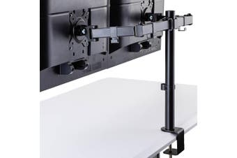 FORTIA Desk Monitor Stand 2 Arm - Dual Computer Holder Screen Riser Bracket