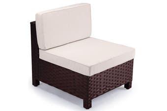 LONDON RATTAN 1pc Sofa Outdoor Furniture Setting Lounge Garden Cushion Couch
