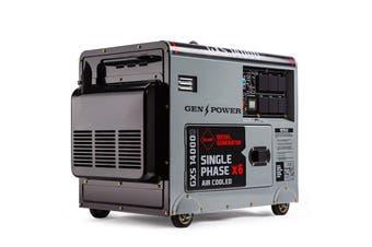 Genpower 8.4kVA Max 6kVA Rated Diesel 13HP Generator Single Commercial Back