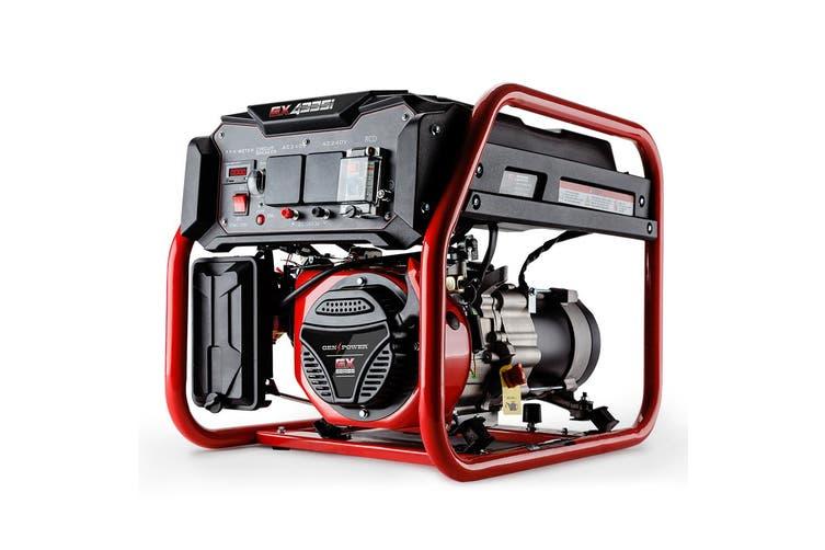 GENPOWER 4.2kVA Max 3kVA Rated Generator Single-Phase Petrol - Site Portable
