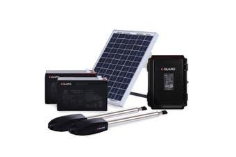 E-GUARD Double Swing Solar Automatic Gate Opener 900KG 3.5M Motor Remote Control