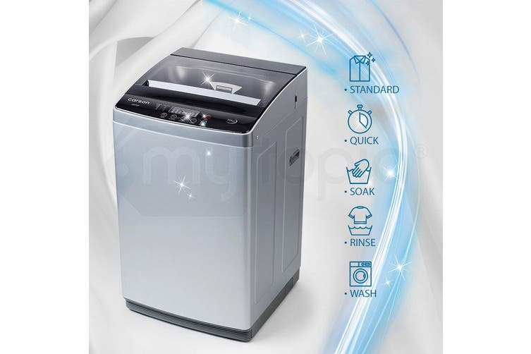 CARSON Washing Machine 7kg Platinum Automatic Top Load Home Dry Wash