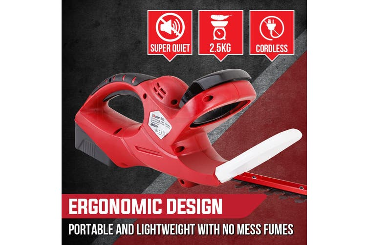 Baumr-AG 20V Cordless Hedge Trimmer Lithium-Ion Battery Electric Garden Tool 22 Inch