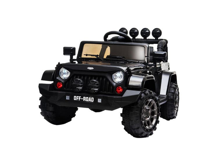 Rovo Kids Electric Ride On Car 12v 4wd Jeep Inspired Boys Toy