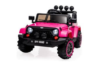 ROVO KIDS Electric Ride On Car 12V 4WD Jeep Inspired Girls Toy Battery Girls