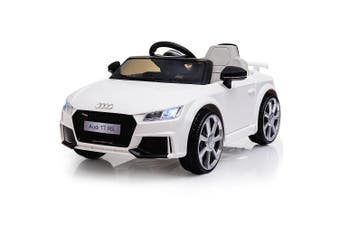 Kids Ride On Car LICENSED Audi TT RS Electric Battery Powered Motorised White