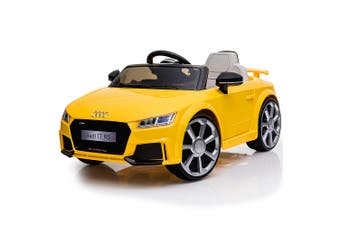 Kids Ride On Car LICENSED Audi TT RS Electric Battery Powered Motorised Yellow