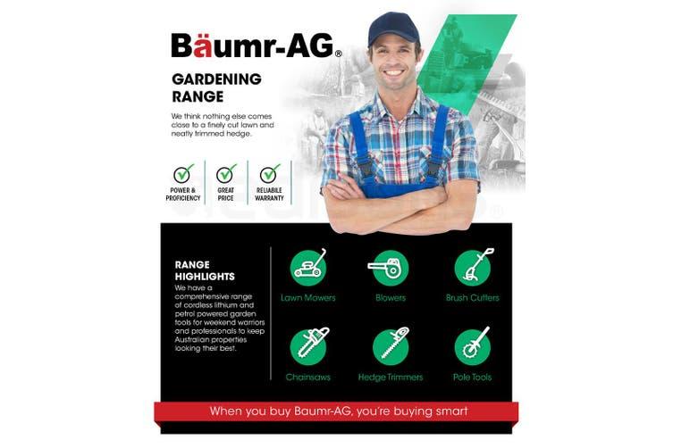 Baumr-AG Lawn Mower 16 Inch Petrol Powered Hand Push Engine Lawnmower Catch 4 Stroke