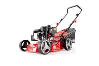 Baumr-AG Lawn Mower 139CC 17 Inch Petrol Push Lawnmower 4-Stroke Engine Catch
