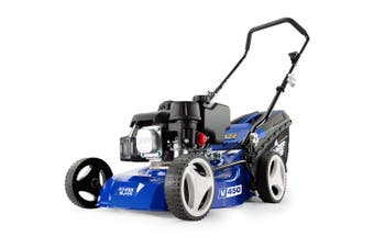 POWERBLADE Lawn Mower 139CC 17 Inch - Petrol Powered Push Lawnmower 4 Stroke Engine