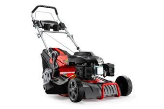 Baumr-AG Lawn Mower 18 Inch 220cc Petrol Self-Propelled Push Lawnmower 4-Stroke