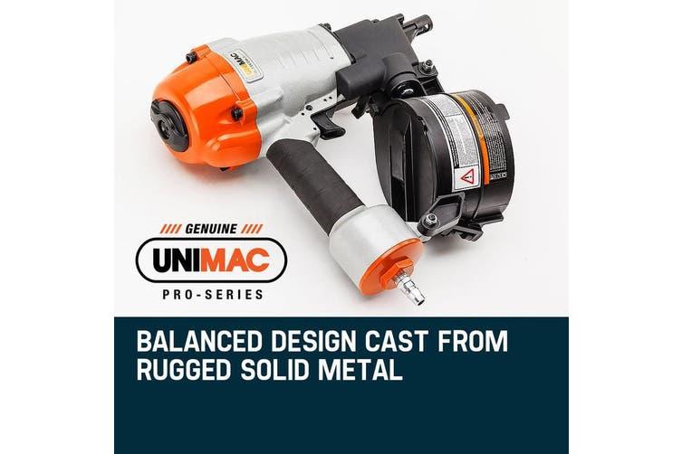UNIMAC Coil Nail Gun Nailer 32-65mm Air Tool Decking Fencing Framing Industrial