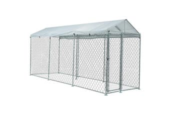 4.5x1.5m Dog Enclosure Kennel Large Chain Cage Pet Animal Shade Cover Fencing