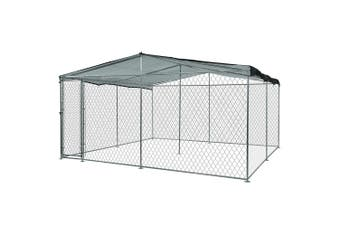 4x4m Dog Enclosure Kennel Large Chain Cage Pet Animal Cover Shade Fencing Run