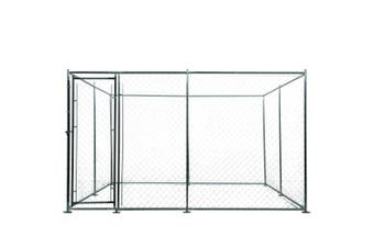 4x4m Dog Enclosure Kennel Large Chain Cage Pet Animal Fencing Run Outdoor Fenced