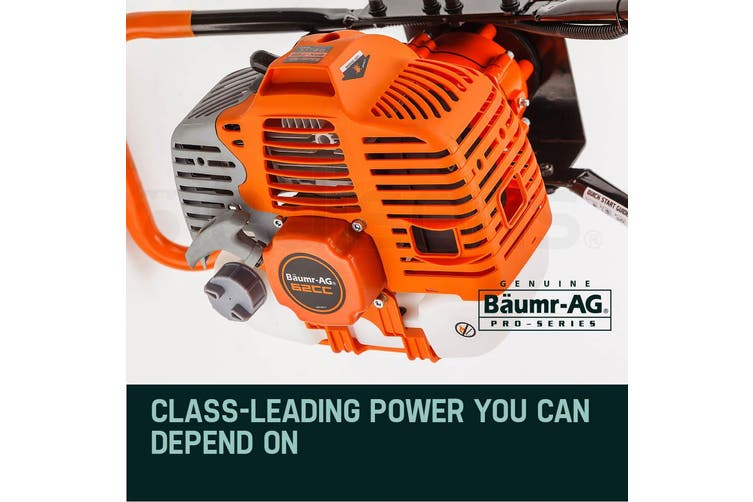 Baumr-AG Post Hole Digger 62CC Posthole Earth Auger Fence Borer Petrol Drill Bit