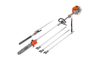MTM 62CC Long Reach Pole Chainsaw Hedge Trimmer Pruner Chain Saw Cutter Multi Tool