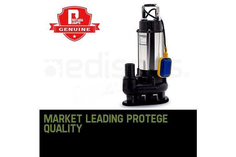 PROTEGE 2250W Submersible Dirty Water Pump Sewage Bore Septic Tank Well Sewerage