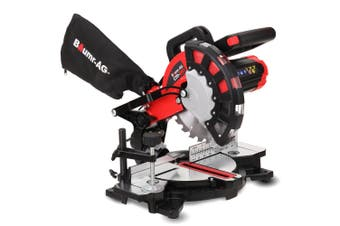 BAUMR-AG Compound Mitre Drop Saw 210mm 1700W Laser Guide Angle Corded DIY Mini
