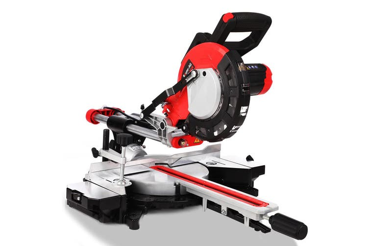 Baumr-AG Sliding Compound Mitre Saw Electric Bench Drop Chop Single Bevel Table