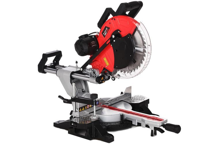 Baumr-AG 305mm Sliding Compound Mitre Saw - Double Bevel Electric Bench Drop Saw