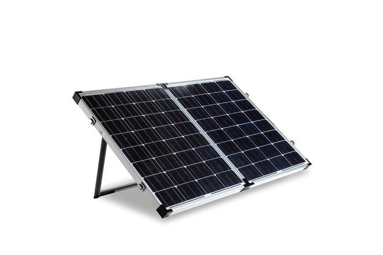G&P 12V 160W Folding Portable Mono Solar Panel Kit Caravan Camping Power USB