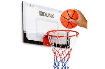 Dr.Dunk Indoor Mini Basketball Hoop Ring Backboard Kit Door Mounted Mount Kid Set