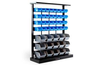 Baumr-AG 47 BIN Storage Shelving Tools Parts Rack Shelf Garage Workshop Metal 7 Tier
