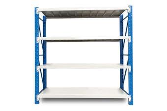 Baumr-AG 2m x 2m 900KG Metal Warehouse Racking Storage Garage Shelving Steel Shelves 4 Tier