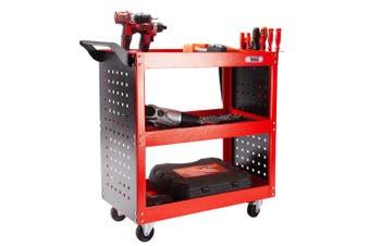 BULLET Tool Trolley Cart Storage 3-Tier Metal Rolling Steel Mechanic Utility