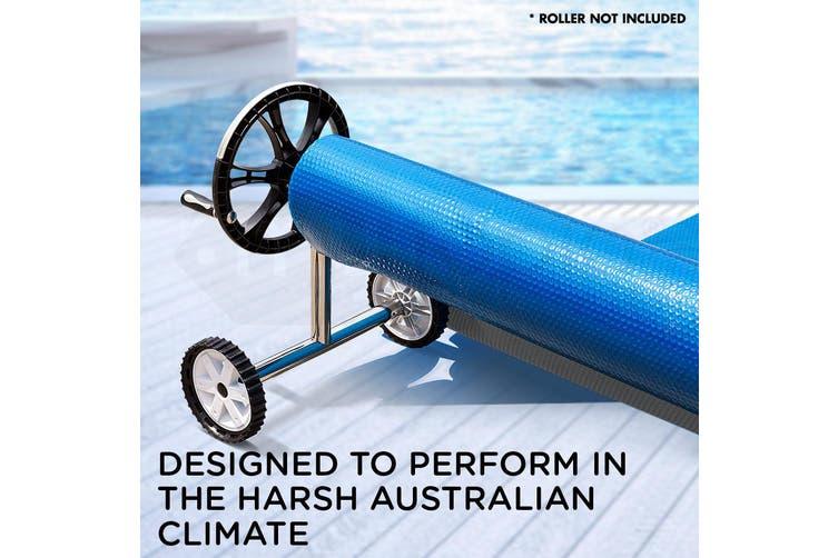 AURELAQUA Solar Swimming Pool Cover 500 Micron Heater Bubble Blanket 11x6.2m