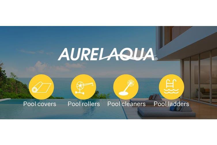 AURELAQUA Pool Cover 400 Micron 7.5x3.2m Solar Blanket Swimming Thermal Blue