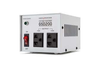 Genpower 200W Step Down Transformer 240V-110 Stepdown Voltage Converter AU-US